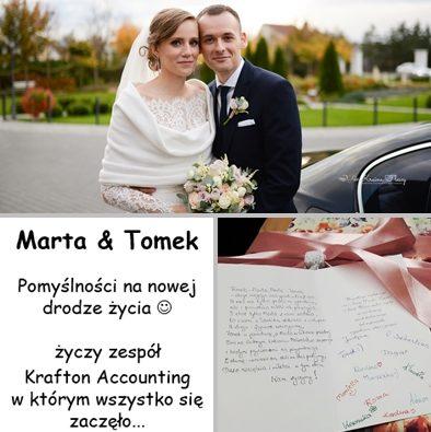 Ślub naszej koleżanki Marty